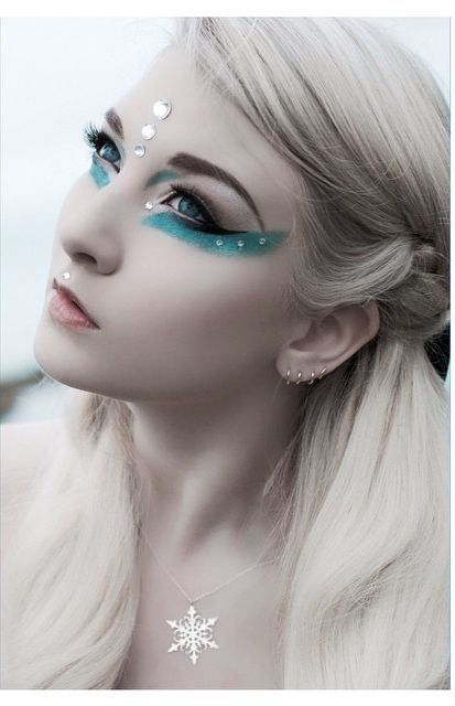 winter fairy make up.....lovely <3                                                                                                                                                      More