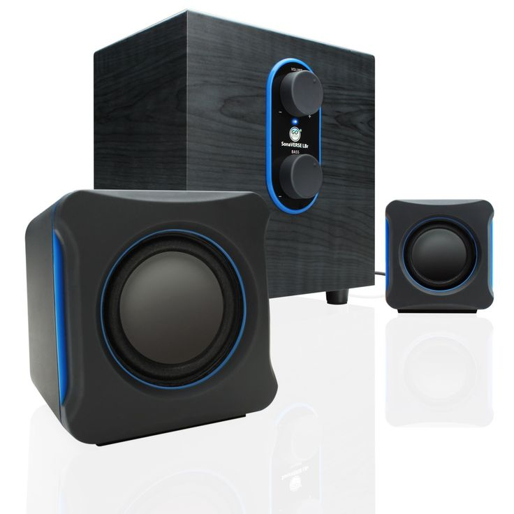 GOgroove LBr 2.1 Channel Home Theater Computer Speaker System with Bass Subwoofer & Dual Satellite Speakers