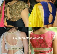 celebrity blouse designs
