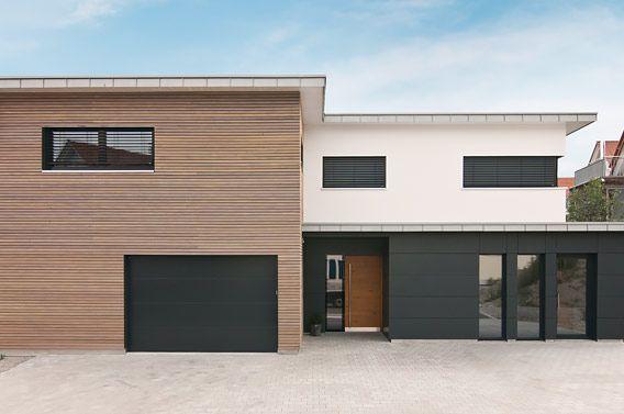 Hausfassade modern mit holz  Einfamilienhaus, Bad Wurzach 1 | Fassade cölbe | Pinterest ...