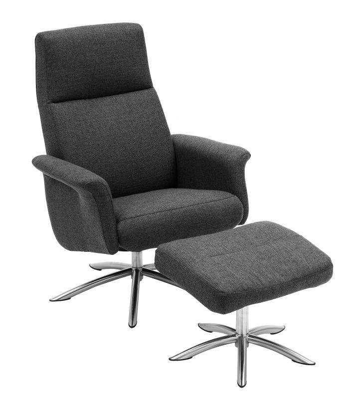 Hvilestol, recliner og suppleringsstolBirk regulerbar hvilestolStoff Coast.Tube sokkel