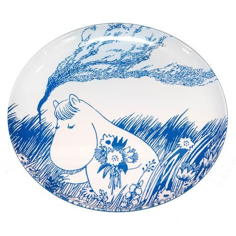 Tove Nordic Moomin plate 24 cm by Opto Design