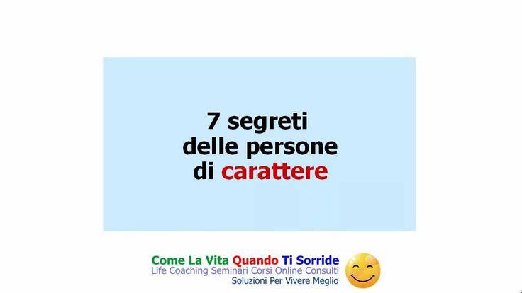 7 segreti delle persone di carattere
