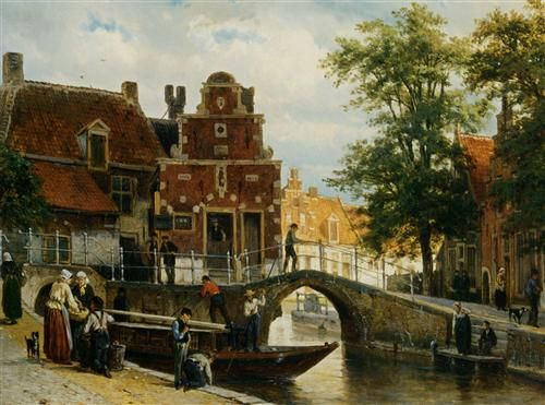 A View of Franeker with the Zakkendragershuisje - Cornelis Springer