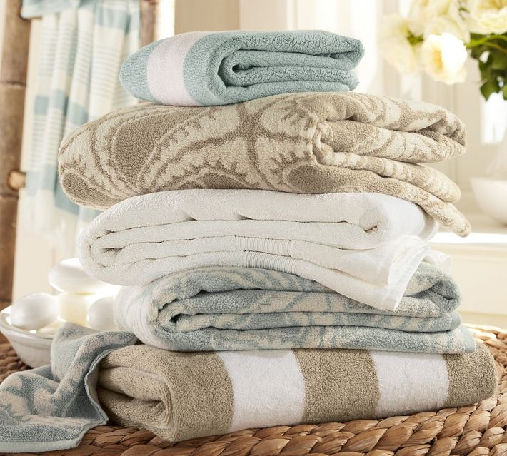 Pottery Barn Bath Towels. Pretty colors!