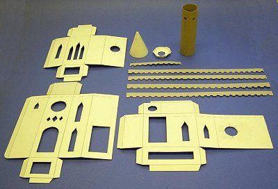 Free pattern paper castle