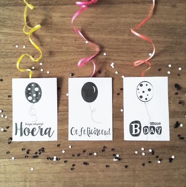 bijdeb: 3 Free printable verjaardag kaarten