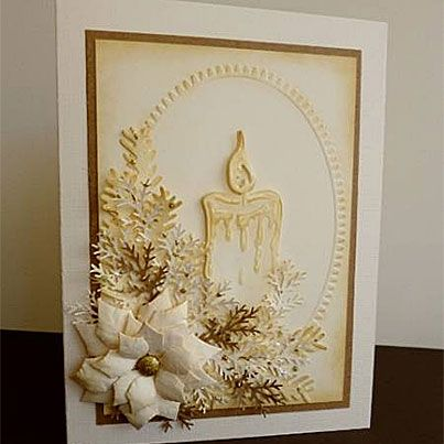 Sepia Candle Card