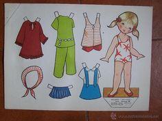 18 laminas recortables de muñecas, seriadas y fechadas 1970. D. 36 cm x 26 cm. - Foto 14