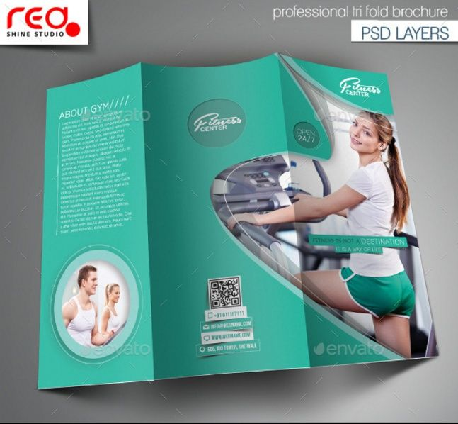 Best  Fitness Brochure Template Word Indesign Eps And Psd