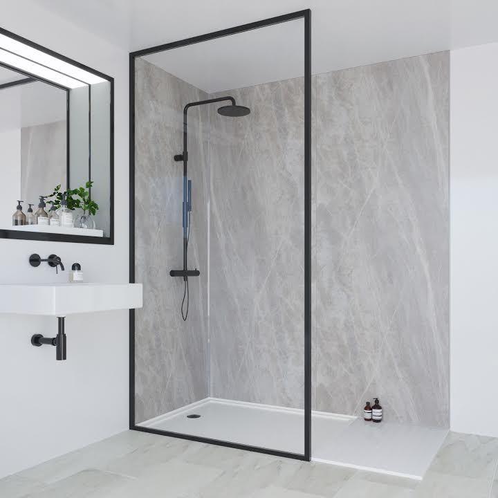 Multipanel Linda Barker Bathroom Wall Panel Soapstone Stellar Unlipped 2400 X 598mm Ml3 Bathroom Wall Panels Waterproof Bathroom Wall Panels Shower Wall Panels