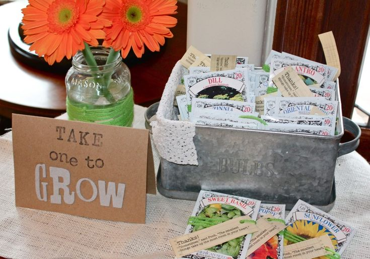 Take one to Grow - seed pack party favors