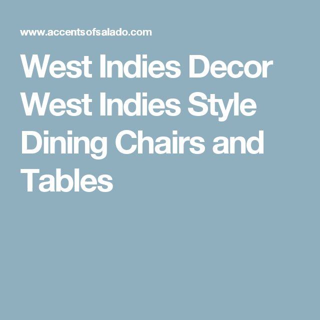 West indies dining