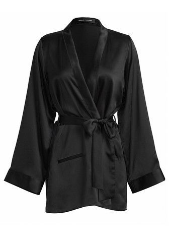 Short Silk Robe | Naked Princess - exotic lingerie, lingerie teddy, clothing intimates *ad