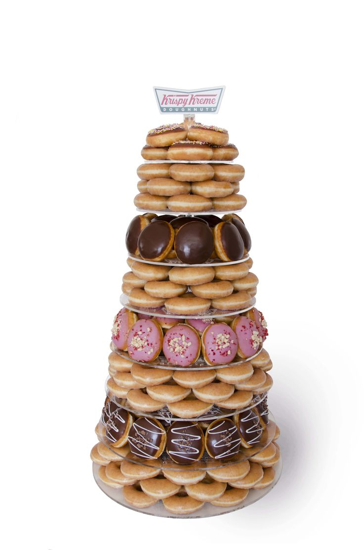 Krispy Kreme Assorted Doughnut Tower for events, alternative wedding cake, parties