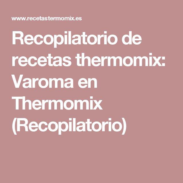 Recopilatorio de recetas thermomix: Varoma en Thermomix (Recopilatorio)