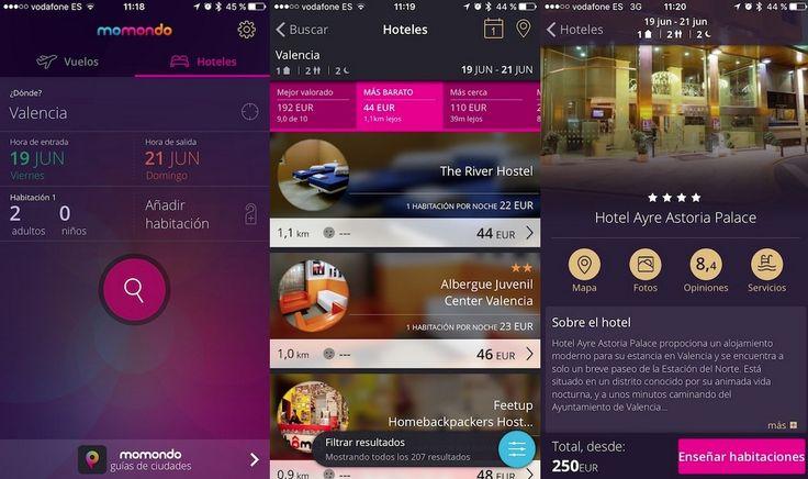 momondo, el buscador de viajes, vuelos y hoteles para iOS