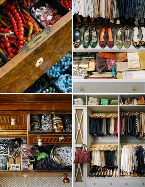 an organized closet space