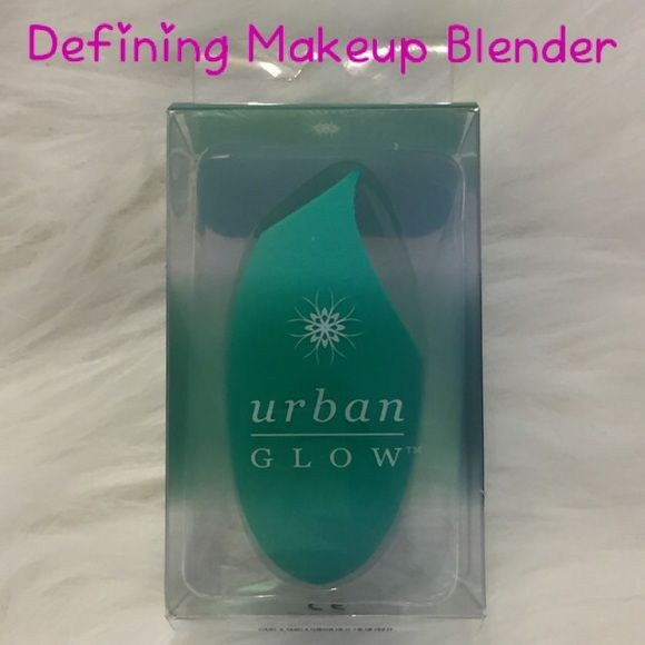 Makeup Blender Defining Urban Glow Makeup Blender Defining Urban Glow   I like this one the best because it is wedged at the top and you can get under and around the eyes way easier than the other types.   Just rinse out after each use and squeeze the water out until it runs clean. Mine still looks new. I use a pink one.    ❌No Trades ❌Of sold elsewhere it will be deleted from here. Urban Glow Makeup Brushes & Tools