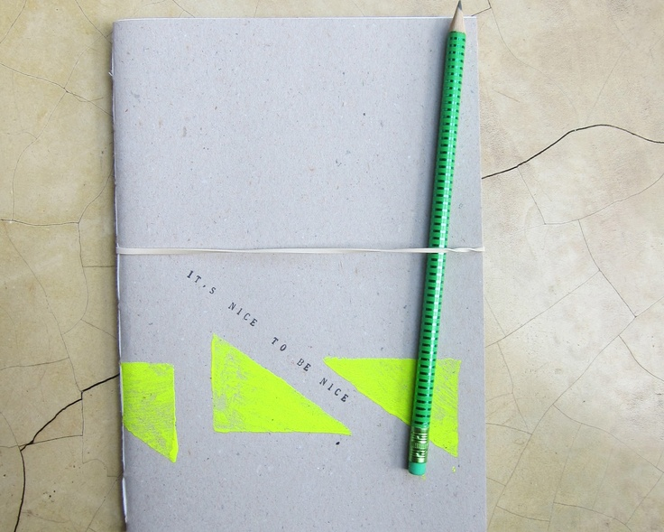 Handmade neon notebook