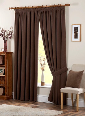 £80 Thick Heavy Luxury Pencil Pleat Fully Lined Curtains | EBay