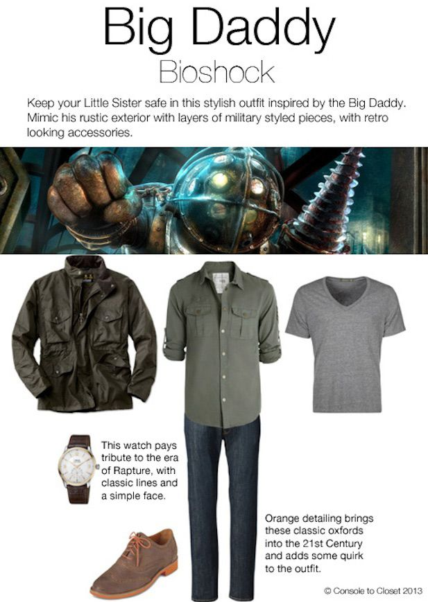 Dive into the fall season with the unique look of Big Daddy from Bioshock.