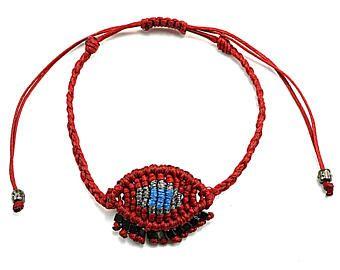 Evil eye macrame bracelet, Crochet evil eye bracelet