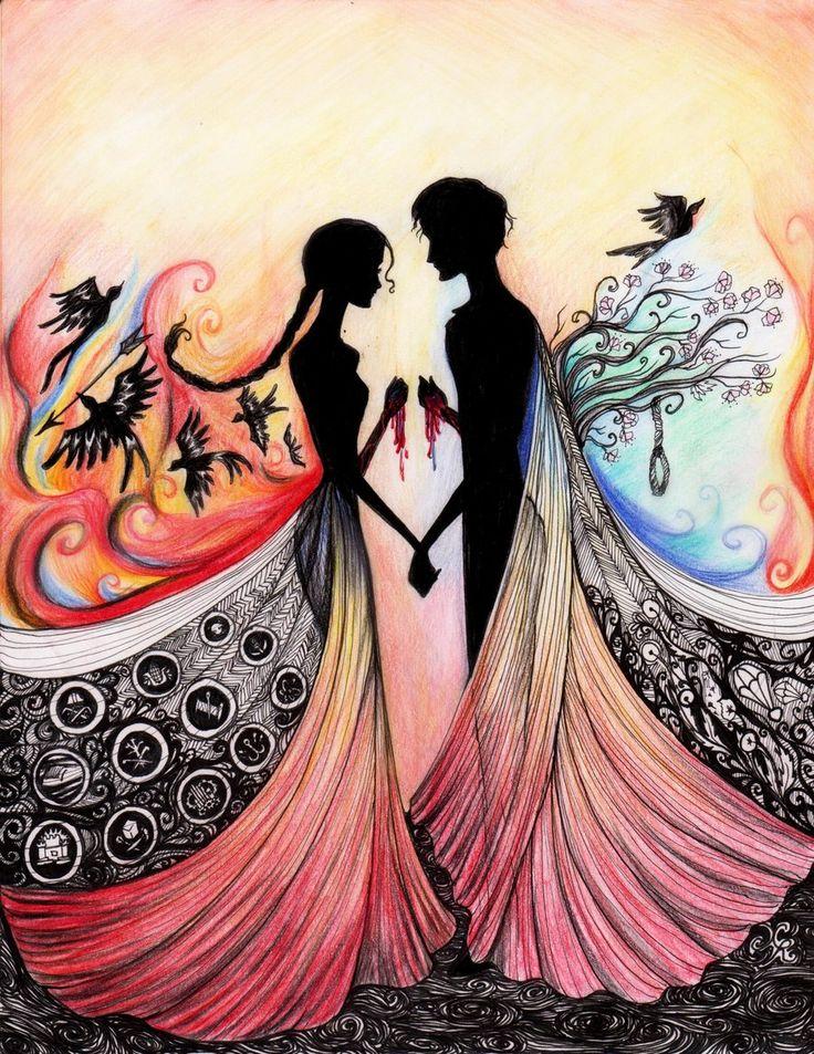 Hunger Games {Fan Art} | Together by La-Chapeliere-Folle on deviantART.