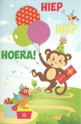 Hiep hiep hoera!  Kinderkaart verjaardag