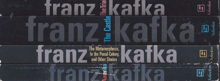 Franz Kafka X4 lot The Trial Amerika Metamorphosis Penal Colony The Castle