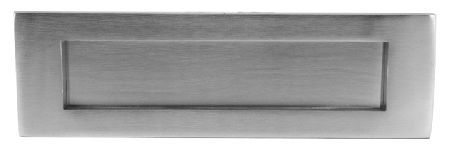 Door Furniture Direct Matt Chrome Front Door Letter Plate 280x90mm Matt chrome traditional front door letter plate. External dimensions are 280x90mm and internal aperture is 206x50mm. The distance between the fixing bolts is approximately 240mm. Supplied complete wit http://www.MightGet.com/january-2017-12/door-furniture-direct-matt-chrome-front-door-letter-plate-280x90mm.asp