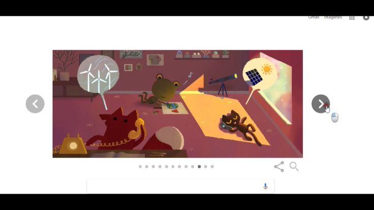 el logo de #google por el dia de la tierra..