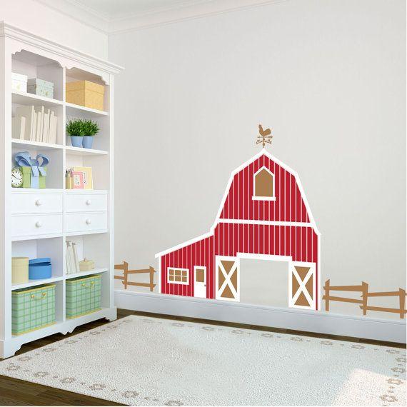 Barn Farm Large Playroom Backdrop Wall Decal Custom By