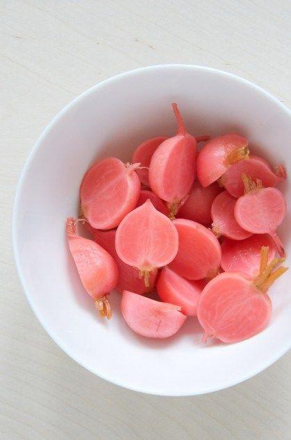 Quick Pickled Radishes via @Nicole Dula