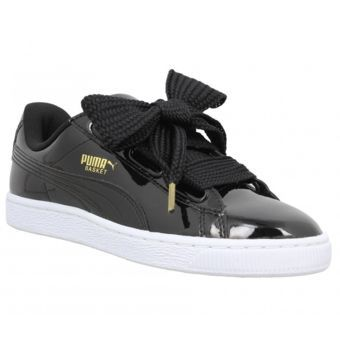 puma basket heart patent sneakers sort lak