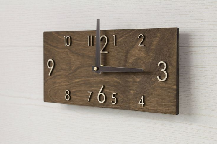 Wall Clocks – Wooden wall clock - Brown wall clock – a unique product by PromiDesign on DaWanda