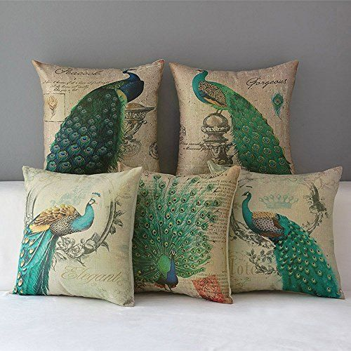 "WOMHOPE® 5 Pcs - 18"" Peacock Pattern Vintage Cotton Linen... https://www.amazon.com/dp/B017BG7E3G/ref=cm_sw_r_pi_dp_x_GT6jyb3Q16E6S"