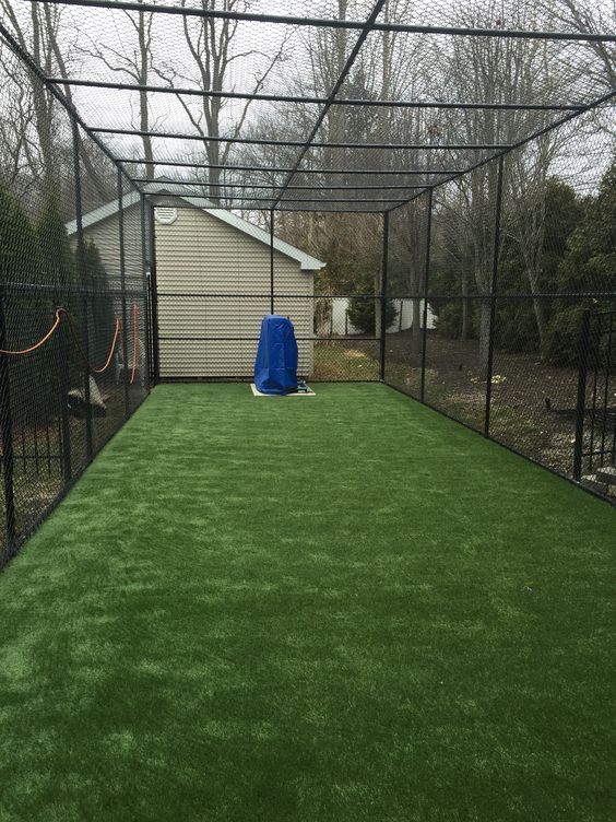 batting cage with carpet - Building A Home Batting Cage Backyard Pinterest Baseball