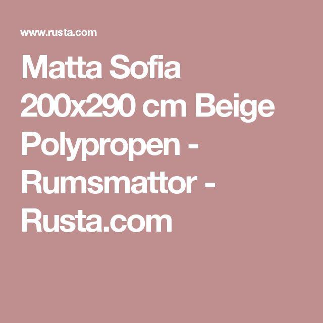 Stunning Matta Sofia x cm Beige Polypropen Rumsmattor Rusta