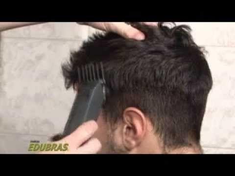 Corte masculino a máquina com Cresta (Curso Online ou DVD EDUBRAS) - YouTube