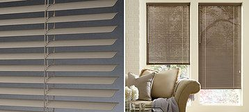 "Décor® ½"" and 1"" Décor® blinds are our most traditional aluminum blinds and feature standard cord holes and a contoured designer headrail for a sleek, fashionable look."