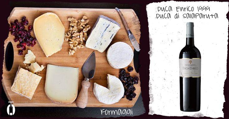Abbinamento Nero d'Avola Salaparuta e formaggi, Sicilia, wine pairing