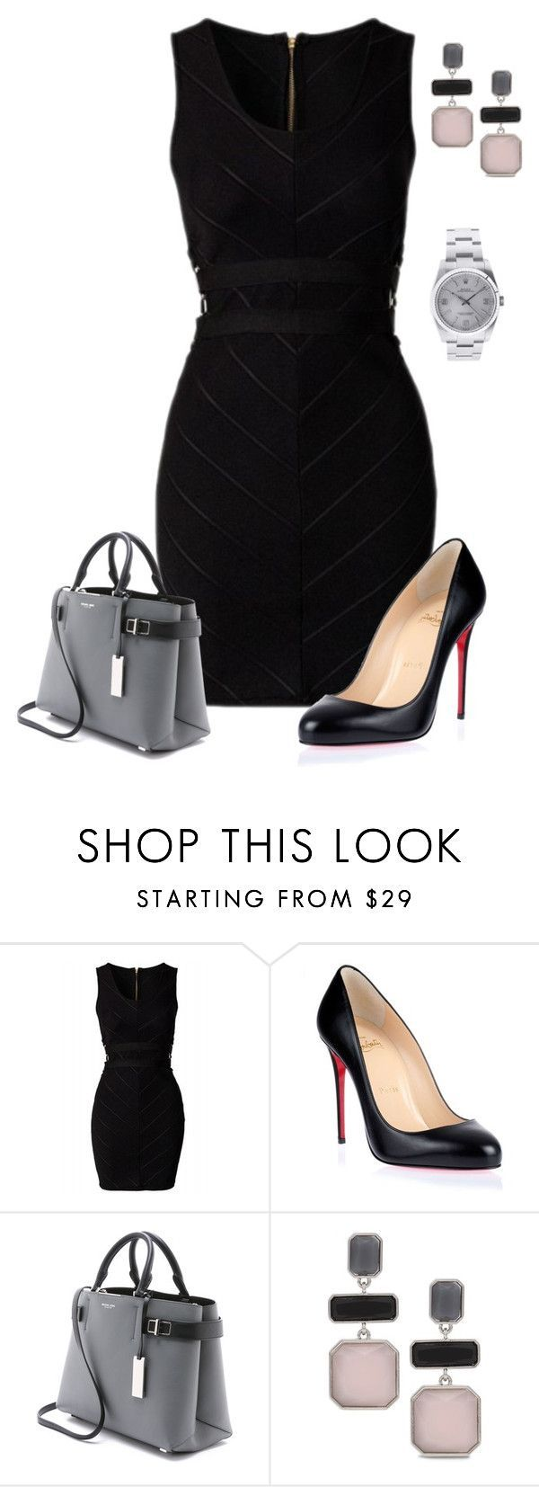 """Untitled #607"" by angela-vitello on Polyvore featuring Christian Louboutin, Michael Kors, Chico's and Rolex"