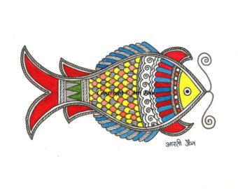 Peacock/handmade Madhubani greeting cards/Cards for by ArtsyArti