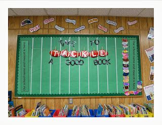 Football Bulletin Board for keeping track of AR points!  Has texture and 3D element.