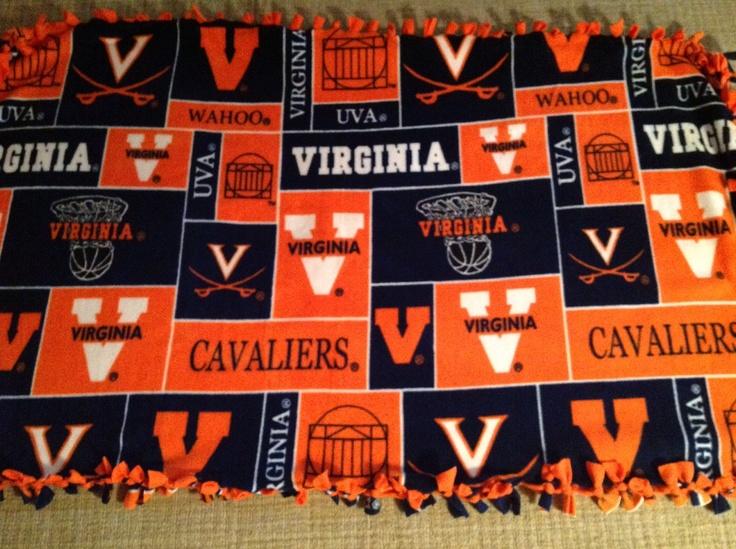 Uva Fleece Blanket Made By Katie Tyree University Of
