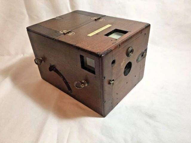 Antique Wooden Box Camera Lt. Ashley Mosher, Havana Cuba 1900s Military untested | eBay