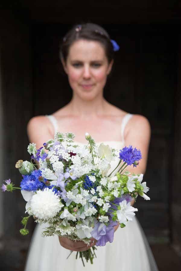 Blue White Summer Bouquet Country Fair Farm Outdoor Wedding http://martamayphotography.co.uk/