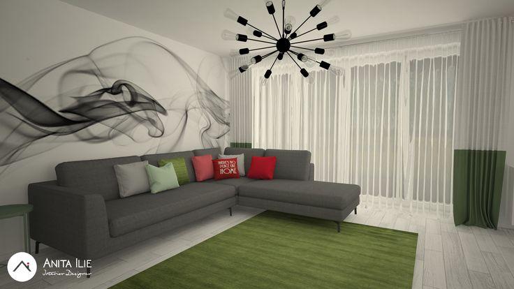 Livingroom design by Anita Ilie Casa Patrata