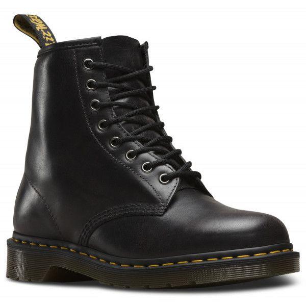 Dr Martens Men's 1460 8 Eye Boots Gunmetal ($181) ❤ liked on Polyvore featuring men's fashion, men's shoes, men's boots, mens boots, dr martens mens shoes, mens shoes and dr martens mens boots